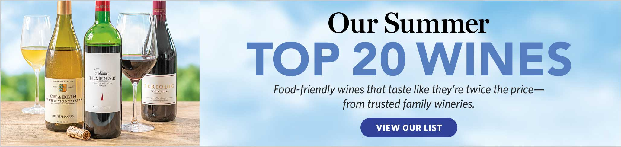 Our Summer Top 20 Wines: View Our List